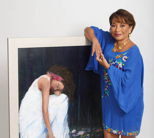 On the Scene: Cancer survivor Leni Knight shares her story through art